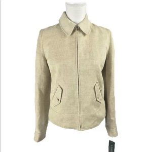 LRL Womens Tweed 100% Linen Jacket Sz 4 MSRP $260